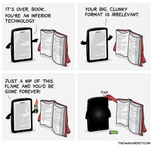 Kindle and book